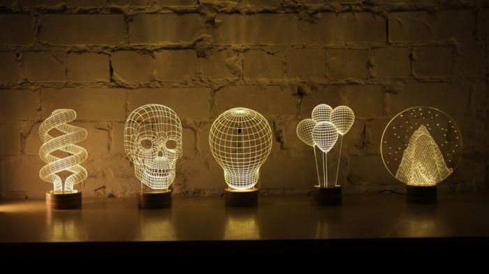 Una lámpara LED en 3D con mucho estilo « Blog Meetthings. Artículos ...
